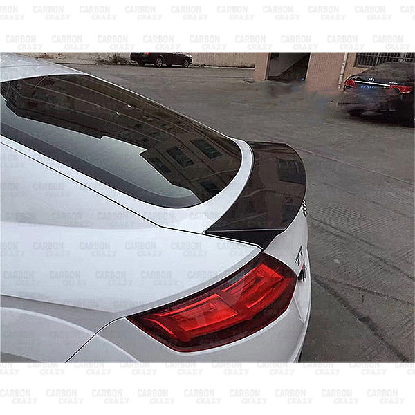 Tt Style Carbon Fiber Rear Spoiler For 2015 2019: BLNCT CARBON FIBRE REAR SPOILER FOR 2015-2016 AUDI TT TTS